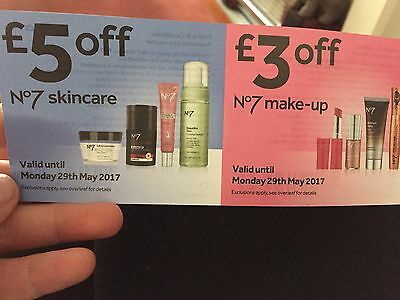 £3 & £5 off No 7 Skincare & Makeup Instore at Boots Valid til 29th May