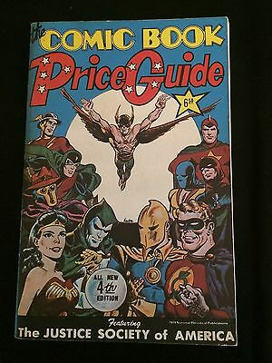 OVERSTREET COMIC BOOK PRICE GUIDE #4 1974 Softcover