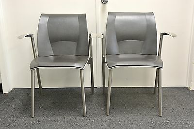 2 Knoll FRANK GEHRY STUDIO FOG GUEST dining arm chairs eames SIGNED AUTHENTIC