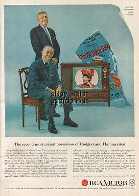 1959 RCA Color Television TV Set Rodgers & Hammerstein Flower Drum Song Photo Ad