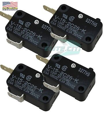 (4PCS) Omron V-15-2C26-K Switch, series 94-231-20.V152C26K, SHURflo 2088 Parts
