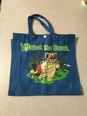 Star Wars Vintage 1983 Wicket The Ewok Canvas Tote Bag New RARE