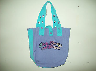 """Mossimo For Target  Canvas Woman's Tote Bag """"Rich Sassy & Single""""   NWT"""