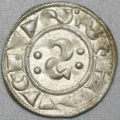 1100s 1300s SIENNA Silver Denaro ITALY State Coin (17041310R)