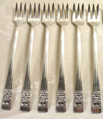 Oneida Community CORONATION Silverplate COCKTAIL FORKS, Set of 6