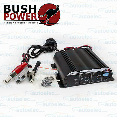 Bush Power Battery Charger 2-4-6 Amp With Anderson Plug To Charge Battery Pack