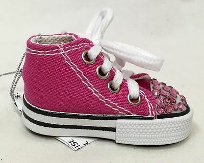 Kurt S Adler Pink Sparkle High Top Sneaker Ornament, New