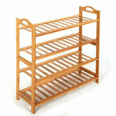 Durable 4 Tiers  Space Saving Storage Organizer Free Standing Shoes Tower Rack
