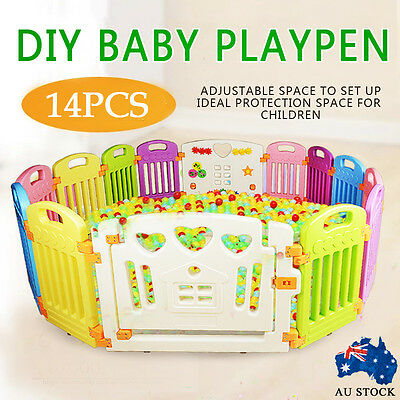 Square Interactive Kid Baby Room Safety Game Playpen Fence 1.6*1.6m Out-indoor