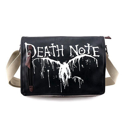 Neu Anime Manga Death Note Cosplay Segel + PU Messenger Tasche Bag 31x26x7CM