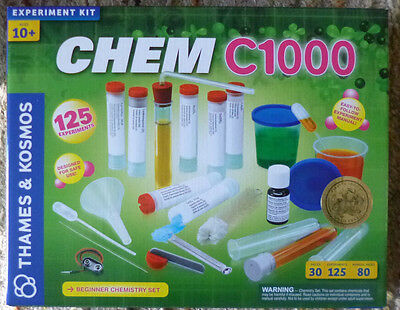 Thames & Kosmos Chemistry Chem C1000 Discovery Science Kit 125 Experiments !