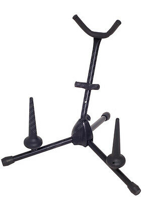 NEW AMS BWA62 SAXOPHONE SAX STAND w 2 FLUTE/ CLARINET PEGS DURABLE & LIGHTWEIGHT