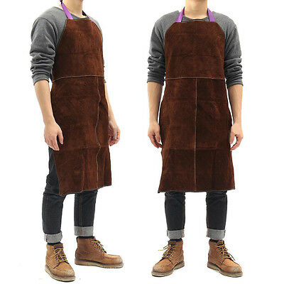 60x90cm Welding Cow Leather Apron Welder Heat Insulation Protection Tool Brown