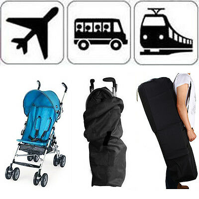 Pram Travel Bag Stroller Pushchair Portable Waterproof Buggy Cover 12 Gate Check