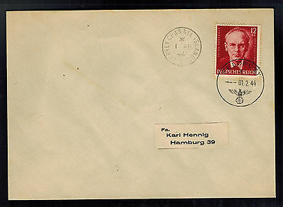 1944 Occupied Jersey Channel Island airmail Feldpost Cover to Germany