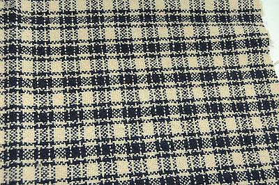 Antique Indigo Blue Oatmeal Woven Coverlet Blanket Piece Wonderful