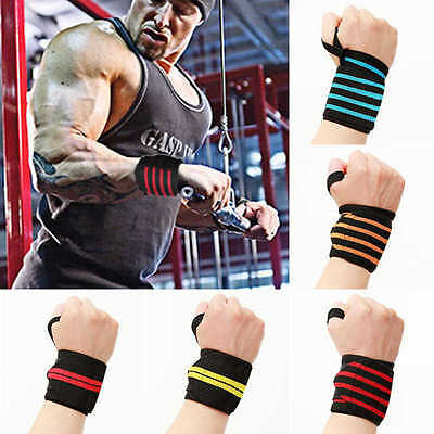 Weight Lifting Wrist Wraps Fitness Crossfit Gym Power Training Thicken Straps