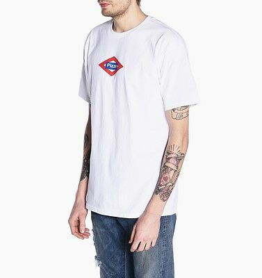 Pizza Skateboards Tee Sol White New Mens T-Shirt FREE POST