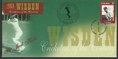 GRENADA WISDEN 2000 CRICKET SIR JACK HOBBS 1v FIRST DAY COVER No 2 of 4