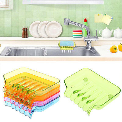 Water Draining Soap Dish Case Holder Drainer Soap Saver Stand Box home Bathroom