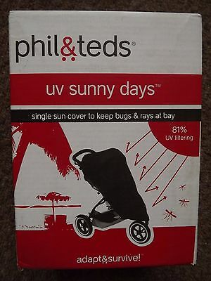 Phil & Teds Sport Classic Sunny Days Sun Shade Mesh Cover Single  2009 UV 81%