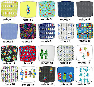 Lampshades Ideal To Match Robots Wall Decals & Stickers & Robots Quilt Covers.