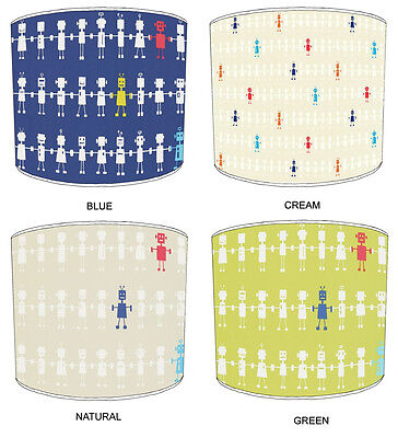 Lampshades Ideal To Match Reggie Robots Quilts & Reggie Robots Wallpaper Border.