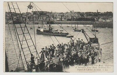 Guernsey postcard - St Peter Port - Departure of Salvation Army Band - LL 10