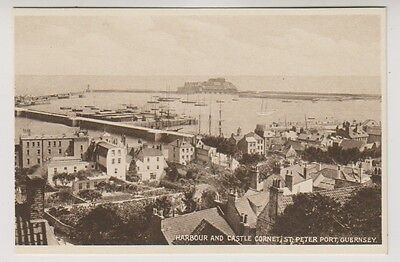 Guernsey postcard - Harbour and Castle Cornet, St Peter Port, Guernsey