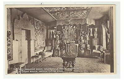 Guernsey postcard - The Red Drawing Room, Hauteville House, Guernsey
