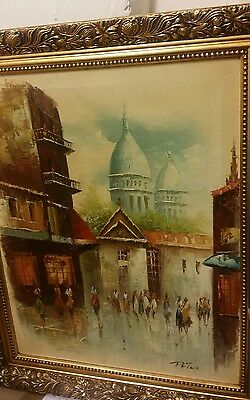 1960s vintage oil painting on canvas 24x20inch