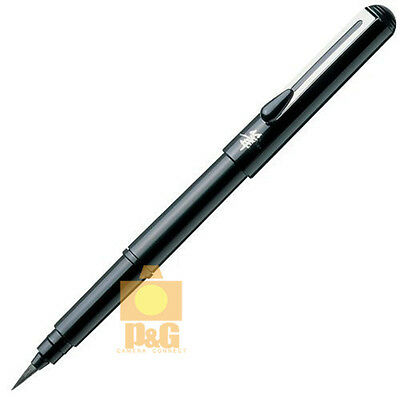 Pentel Refillable Pocket Brush Pen XGFKP-A XGFKP3-A + 4 Black Ink Cartridges