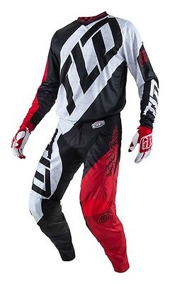 New 2017 34 L Troy Lee Designs QUEST RED/WHITE Jersey Pants Kit MX Enduro Sale