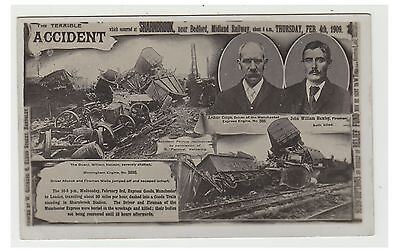 Bedfordshire postcard - Railway Accident at Sharnbrook, nr Bedford, Feb 4th 1909