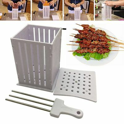 16/32 Hole Meat Skewer Machine Maker Beef Brochette Grill Kebab Maker BBQ Tool