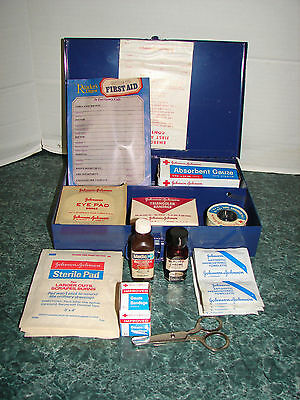 Vintage Johnson And Johnson Emergency First Aid Kit