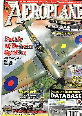 Aeroplane Monthly 2014 May Boeing 377 Stratocruiser,530th FW P-51,T-34,Spitfire