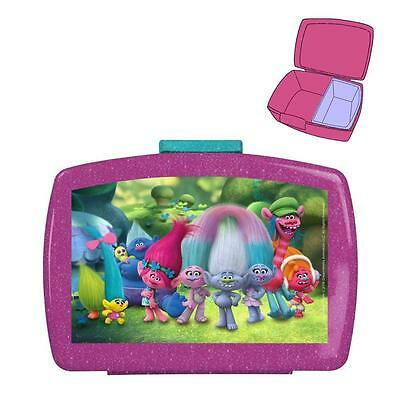 DreamWorks Trolls - Snack Box Container - Sandwich Box Lunchbox 16 x 12 x 6,5 cm