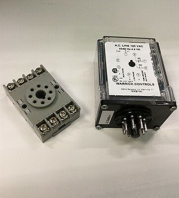 Warrick 16MB1A0 Fluid Level Controller Relay Solid State 8-Pin 120 VAC w/Socket