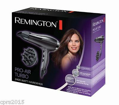 Remington D5220 Pro Air Turbo 2400W Ionic Hair Dryer Concentrator and Diffuser