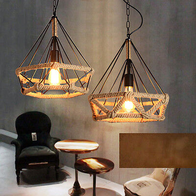 Retro Industrial Cage Pendant Light Shade Lightshades Ceiling Down Lampshade New