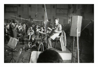 The Beatles Paul McCartney And Mick Jagger Recording Sgt Pepper 1967 Photograph