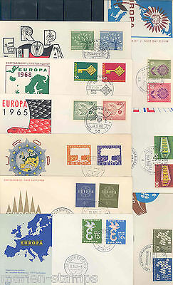 Germany  Lot Of Nine  Different Europa First Day Covers As Shown