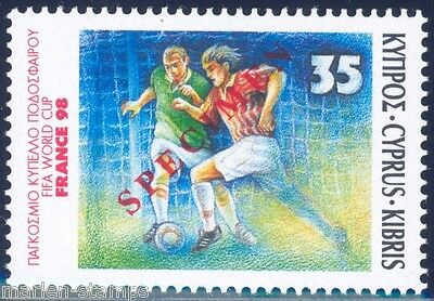 Cyprus France  Soccer World Cup 1998 Specimen Overprint  Mint Nh