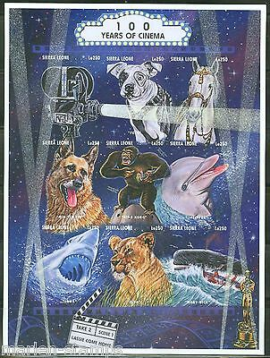 Sierra  Leone  Imperforated 100 Years Of Cinema Animals Sheet  Sc#1865   Mint Nh