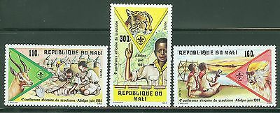 MALI 1981 4th AFRICAN CONFERENCE OF SCOUTING SET(3)   MINT NH