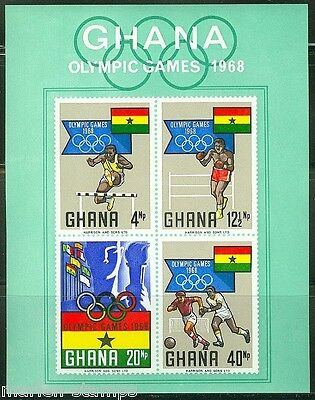 GHANA  IMPERFORATED SOUVENIR SHEET 1968 OLYMPICS   SCOTT#343a  MINT NEVER HINGED