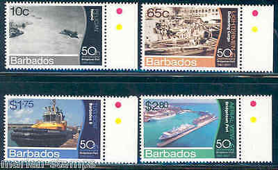 Barbados  2012 50Th Anniversary Bridgetown Port Set Of Four  Mint Never Hinged