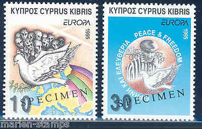 Cyprus Europa 1995 Liberation Of Concentration Camps  Specimen Overprint Mint Nh