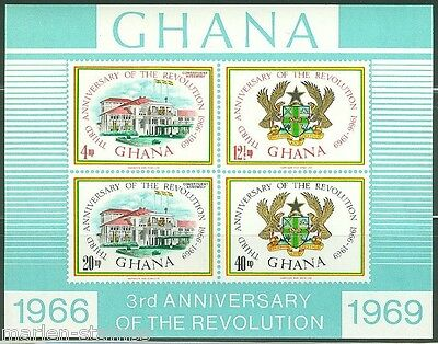 GHANA  IMPERFORATED SOUVENIR SHEET 3rd ANNIVERSARY SCOTT#355a  MINT NEVER HINGED